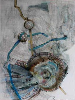Doll  II, 70 x 90 cm, mixed media on canvas, 2014