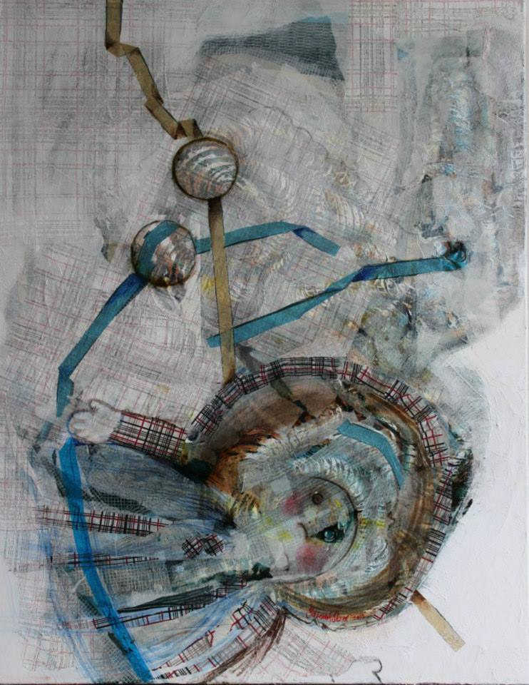 Doll  II, 70 x 90 cm, mixed media on canvas, 2014