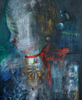 Adolescence, 70x90cm, mixedmedia on canvas, 2018