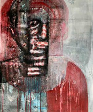 Identity, 70x100cm, mixed media on canvas, 2021