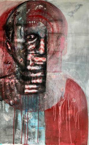 Ethnic Identity, 70x100cm, mixed media on canvas, 2021