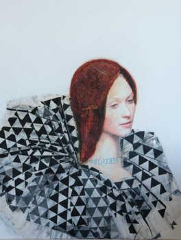 Triangle, 50x60 cm, mixmedia on canvas , 2014