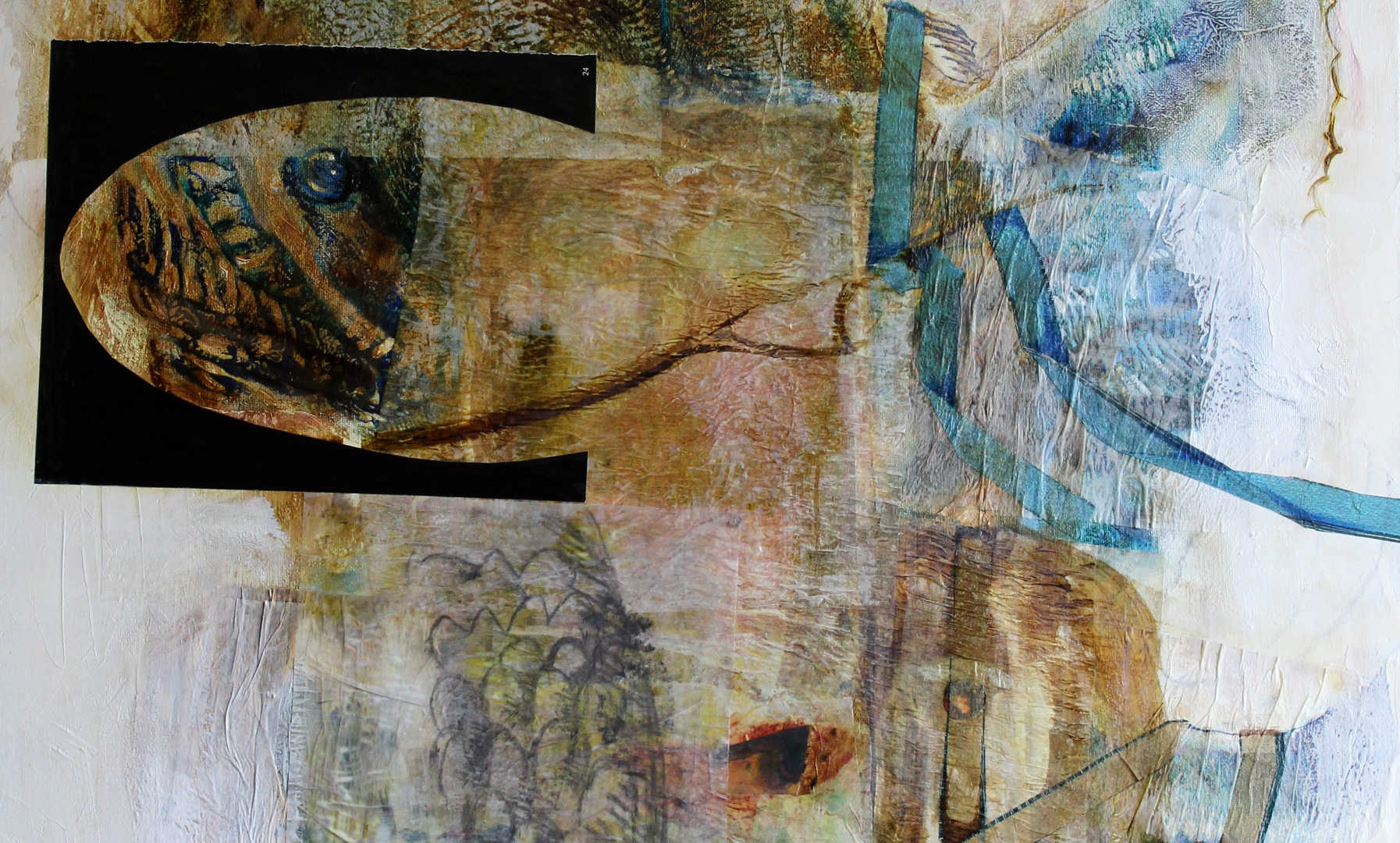 Fish Eye, 50 x 70cm, mixed media on canvas, 2014