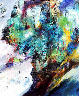 Atlantis, 120 x 120 cm, oil on canvas, 2012