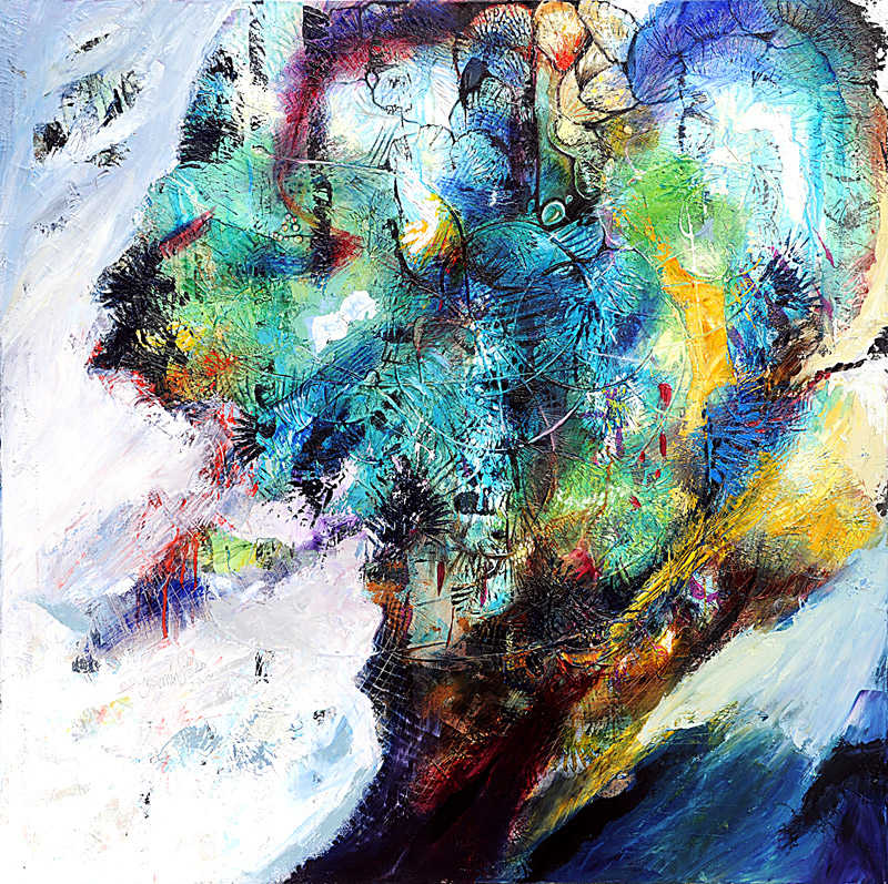 Atlantis, 120 x 120 cm, oil on canvas, 2012