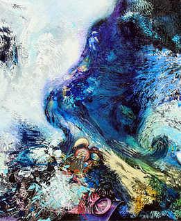 Big Bang, 120 x 120 cm, oil on canvas, 2012