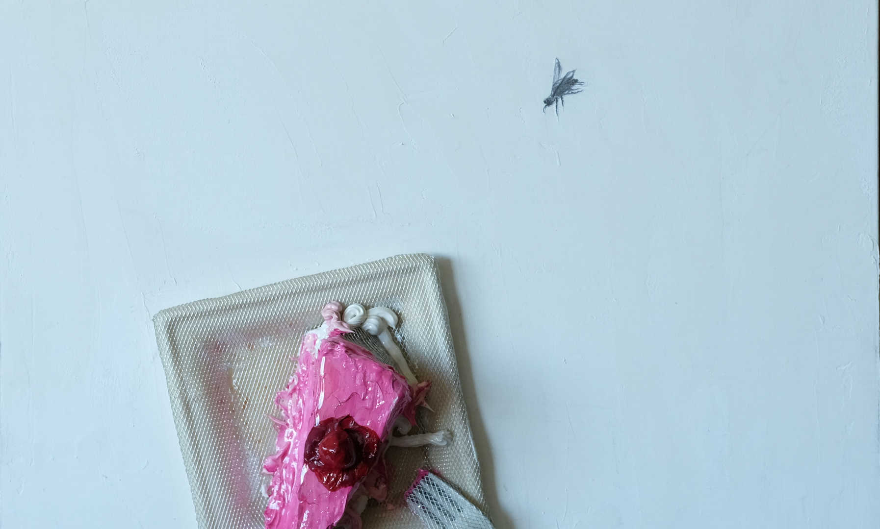 Alice`s Raspberry Cake, 50 x 50 cm, mixed media on canvas, 2017