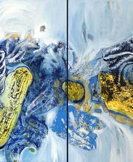 Cocoon,( diptic) 110 x 110 cm, oil on canvas, 2010