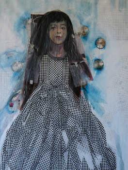 Girl, 80x120cm, Mixed Media on canvas, 2014