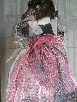 The Crow Girl, 60x80cm, mix media on canvas,2014