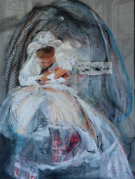 The Little Artist,  60x80 cm, mixmedia on canvas , 2014