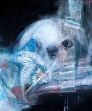 Mutation, 50x50cm, mixedmedia on canvas, 2017