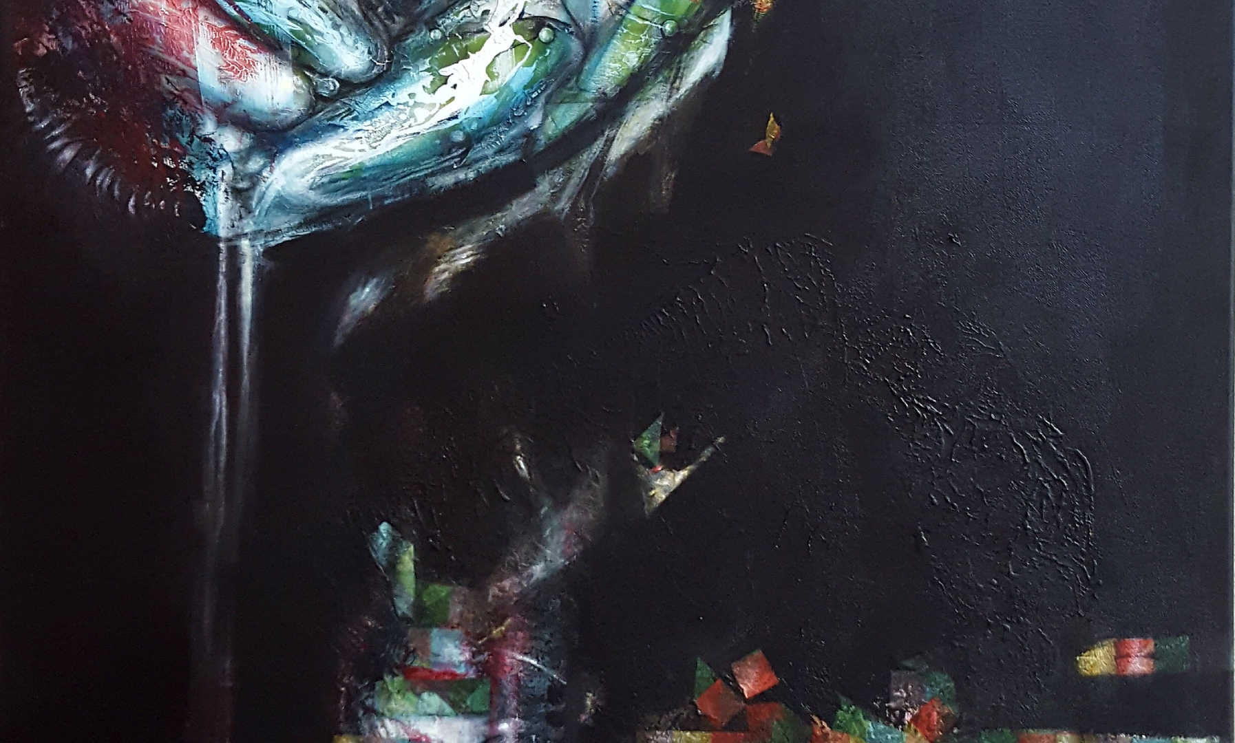 Green Anatomy, 80x100cm, mixedmedia on canvas, 2017