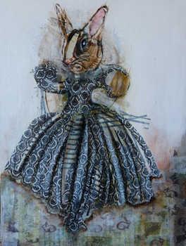 Rabbit, 60x80 cm, mixmedia on canvas , 2014