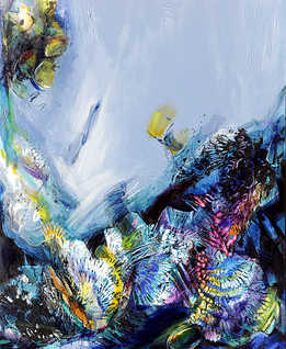 Deep, 80 x 100 cm, oil on canvas, 2012