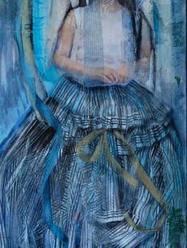 Ophelia, 40 x 120cm, mix media on canvas, 2015