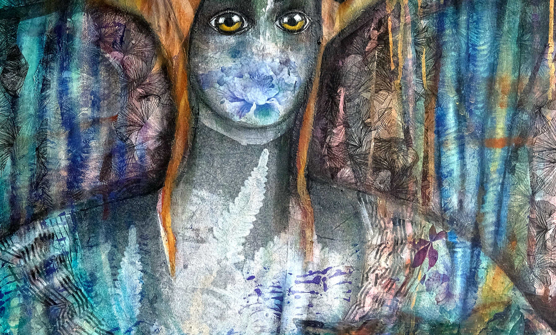 Deer, 70x90cm, mixedmedia on canvas, 2018
