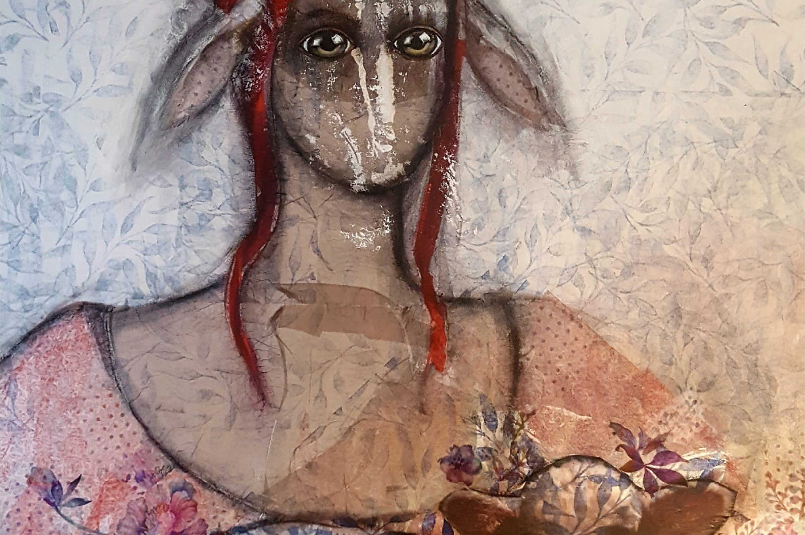 Lamb, 70x90cm, mixedmedia on canvas, 2018