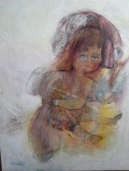 Doll  I, 80 x 120 cm, mixed media on canvas, 2014
