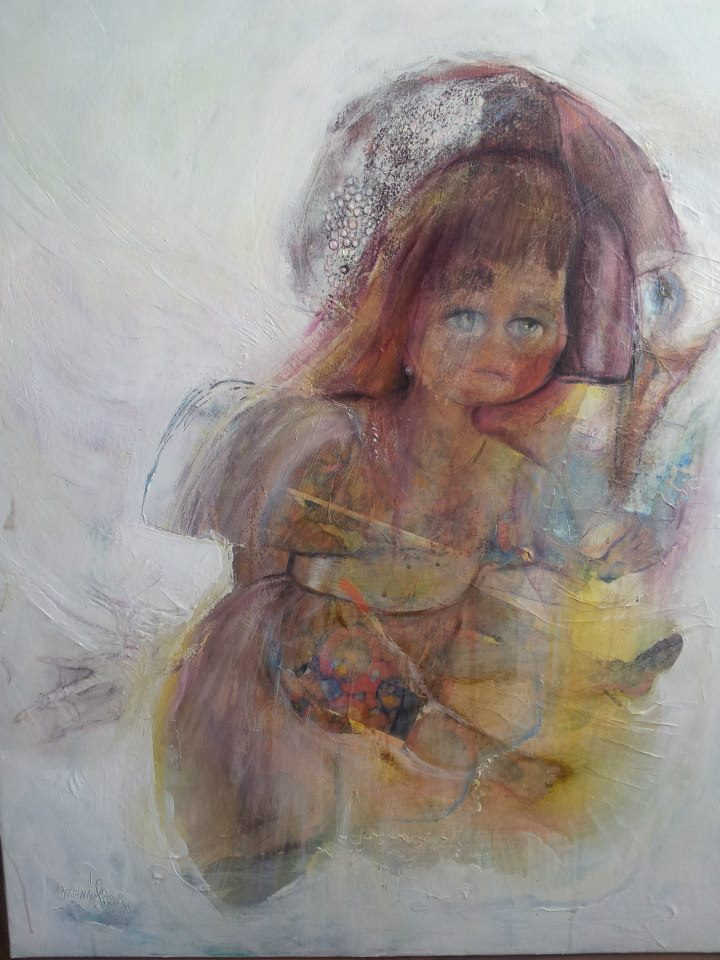Doll  I, 80 x 120 cm, mixed media on canvas, 2014