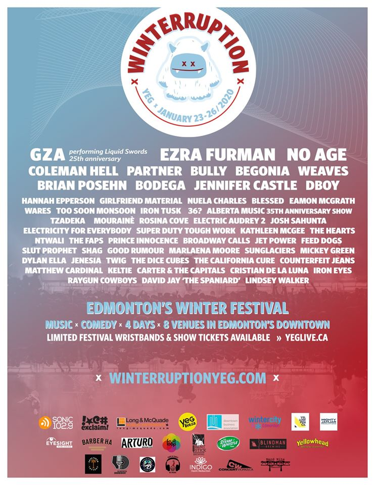 Jan 23 @ 2020 Winterruption YEG Fest