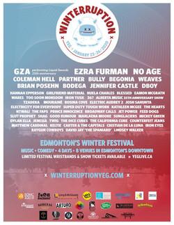 Jan 23 @ 2020 Winterruption YEG Fest