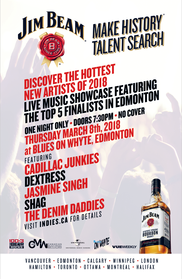 Jim Beam Indie Music Search 2018