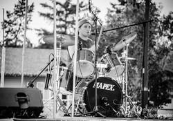 Trevor on the Drums