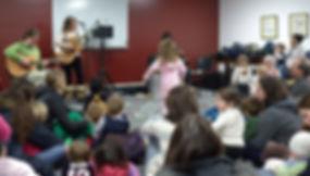 Kids sing-a-long