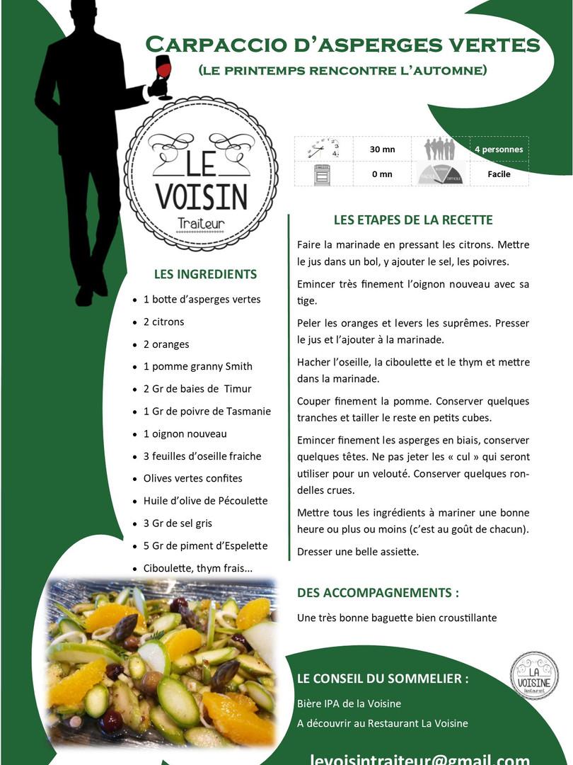 Carpaccio asperges Le Voisin.jpg
