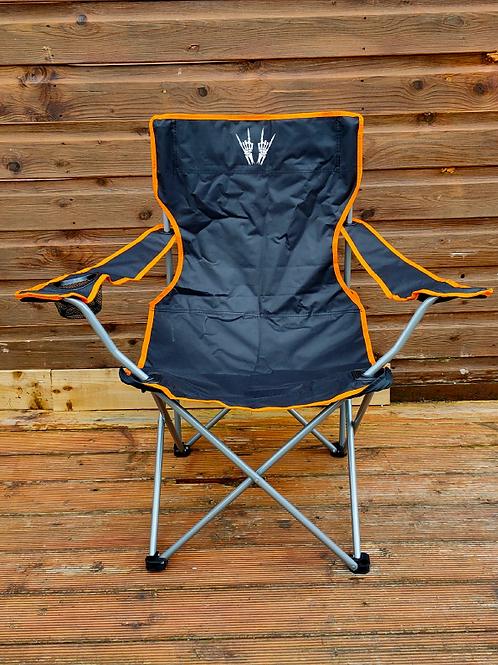 Skeleton Heavy Metal Horns Camping Chair