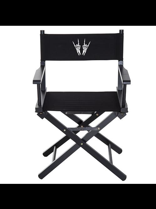 Skeleton Heavy Metal Horns Directors Chair
