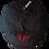 Heavy Metal Skeleton Horns Newsboy Cap red logo