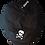 SkullnCrossbones Newsboy Cap white