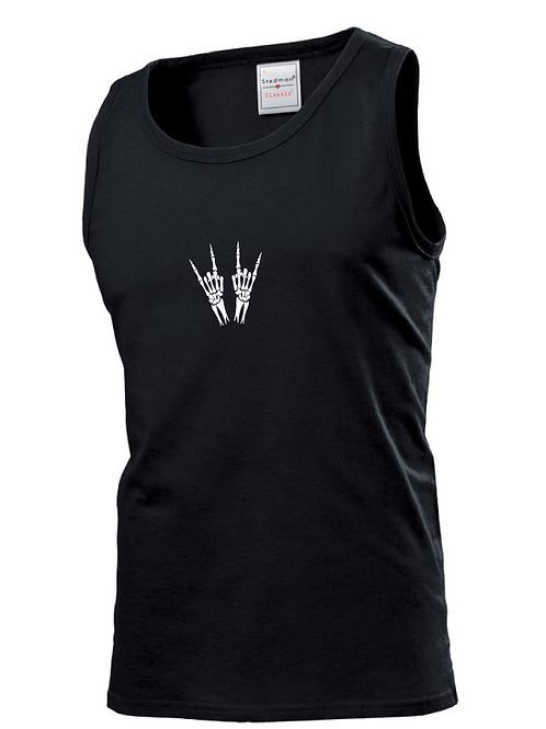 Skeleton Heavy Metal Horns Vest black