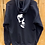 Skull zipped hoody zoom