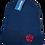 Pentagram Beanie hat red logo