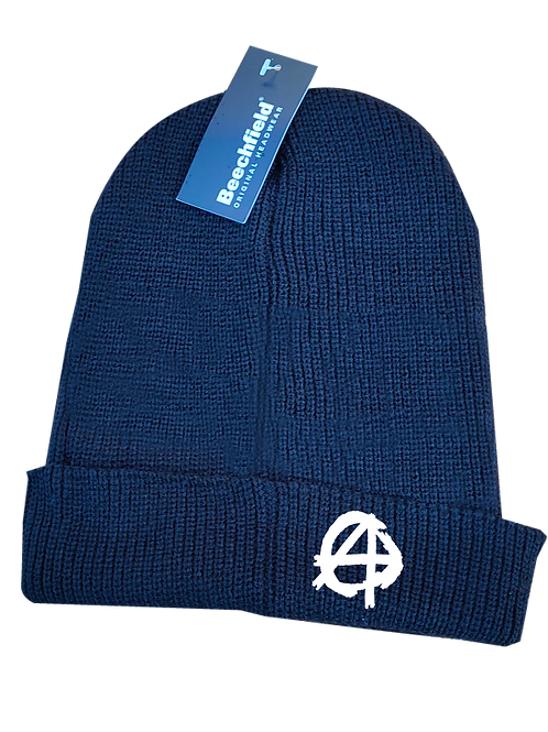 Anarchy Beanie Hat white logo