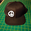 Peace Snapback Baseball Hat V2 black