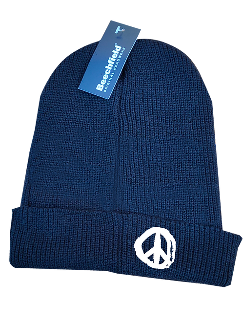 Peace Beanie Hat V2 white