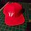 Skeleton Heavy Metal Horns Snapback Baseball Hat red