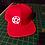 Pentagram Snapback Baseball Hat red