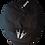 Heavy Metal Skeleton Horns Newsboy Cap white logo