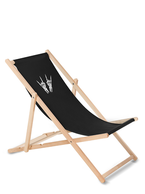 Skeleton Heavy Metal Horns Deckchair