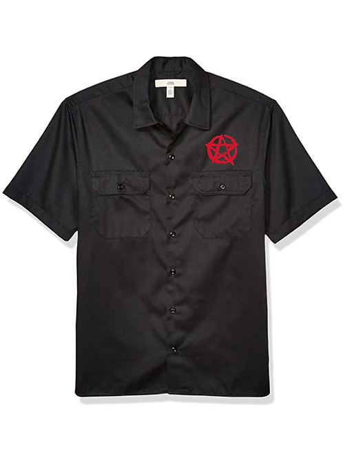 Pentagram Classic Work Shirt red logo