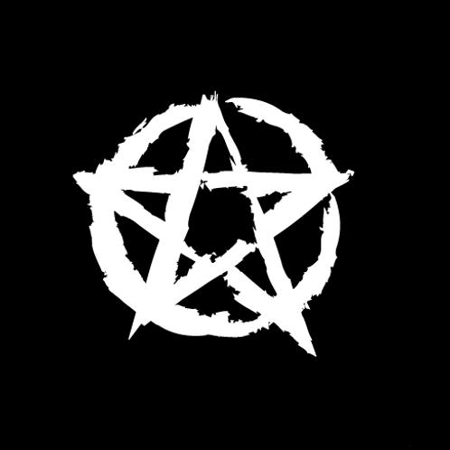 Pentagram Sticker white