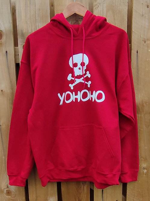 Yohoho antique cherry red hoody