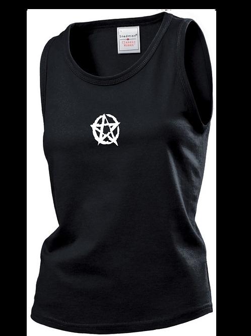 Ladies Pentagram Vest black
