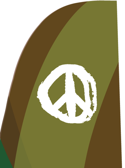 Peace Feather Flag V2  zoom