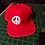 Peace Snapback Baseball Hat V2 red